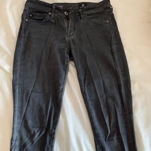AG Stilt Cigarette Leg, Charcoal Jeans, 24